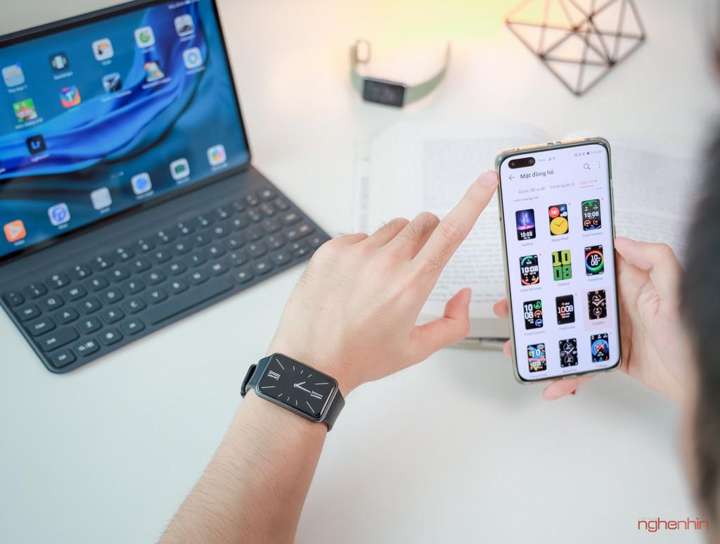 Trên tay Watch Fit đồng hồ thông minh thể thao đầu tiên của Huawei giá 3,3 triệu  ảnh 6