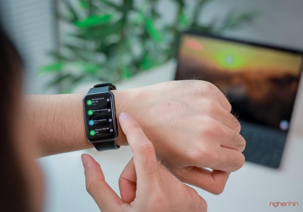 Trên tay Watch Fit đồng hồ thông minh thể thao đầu tiên của Huawei giá 3,3 triệu  ảnh 7