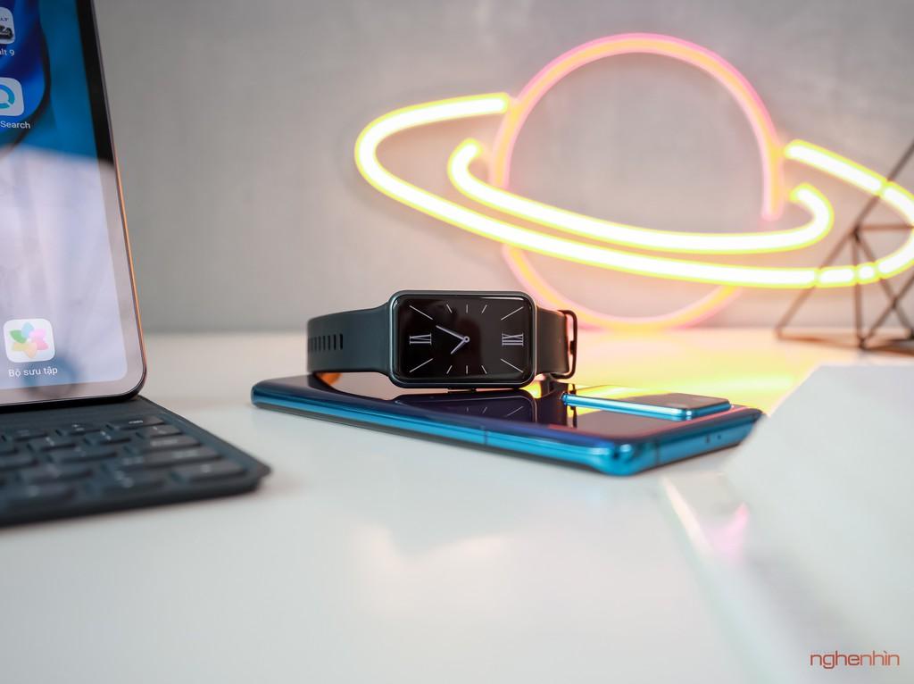 Trên tay Watch Fit đồng hồ thông minh thể thao đầu tiên của Huawei giá 3,3 triệu  ảnh 9