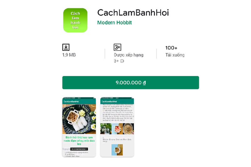 Ung dung rac gia 9 trieu dong tran ngap Play Store Viet Nam-Hinh-3