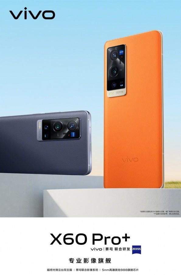 vivo X60 Pro + gây sốt với Snapdragon 888, máy quét vân tay UD, mặt lưng bằng da ảnh 2