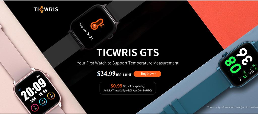 Ticwris GTS đo nhiệt độ cơ thể theo thời gian thực để ngăn chặn Covid-19 ảnh 1