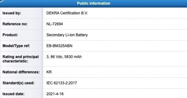 Samsung Galaxy M32 lộ diện với pin 6.000 mAh ảnh 2