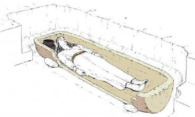 Mô phỏng ngôi mộ của người phụ nữ cách đây 2.800 năm.