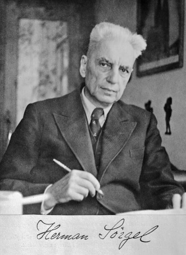 Tác giả của dự án Atlantropa, Herman Sörgel (1885-1952).