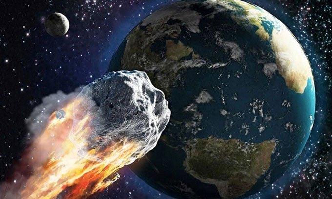 Mô phỏng thiên thạch bay qua gần Trái đất.