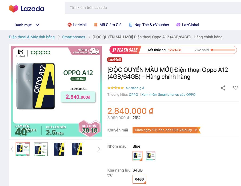 Oppo A12 lên kệ 2 màu mới giá sốc chỉ 2,84 triệu đồng duy nhất ngày 20.10 ảnh 1