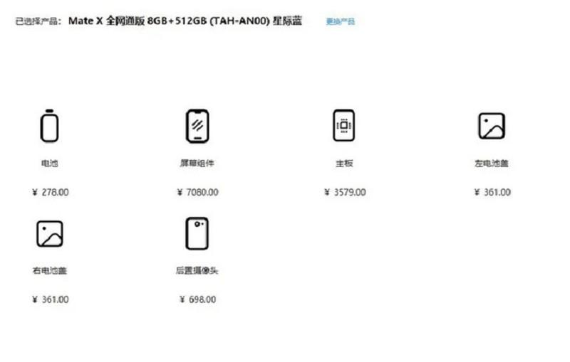 Gia thay man hinh Huawei Mate X dat ngang iPhone 11 Pro-Hinh-2