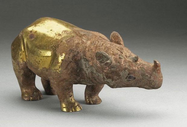 Một con tê giác sắt triều đại Tây Hán.