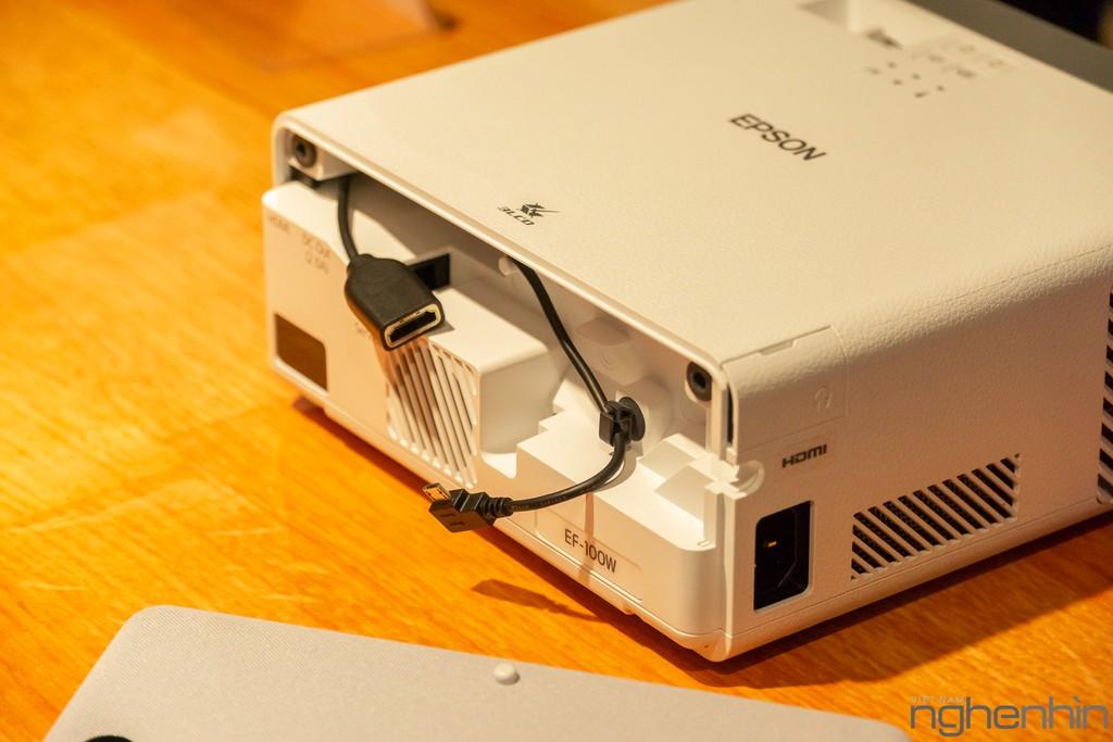 Máy chiếu laser 3LCD EPSON EF-100 nhỏ nhất thế giới ra mắt thị trường Việt giá từ 25 triệu ảnh 5