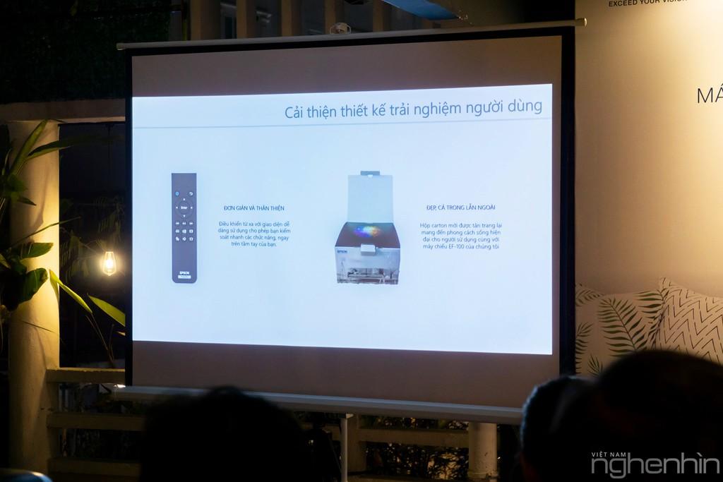 Máy chiếu laser 3LCD EPSON EF-100 nhỏ nhất thế giới ra mắt thị trường Việt giá từ 25 triệu ảnh 7