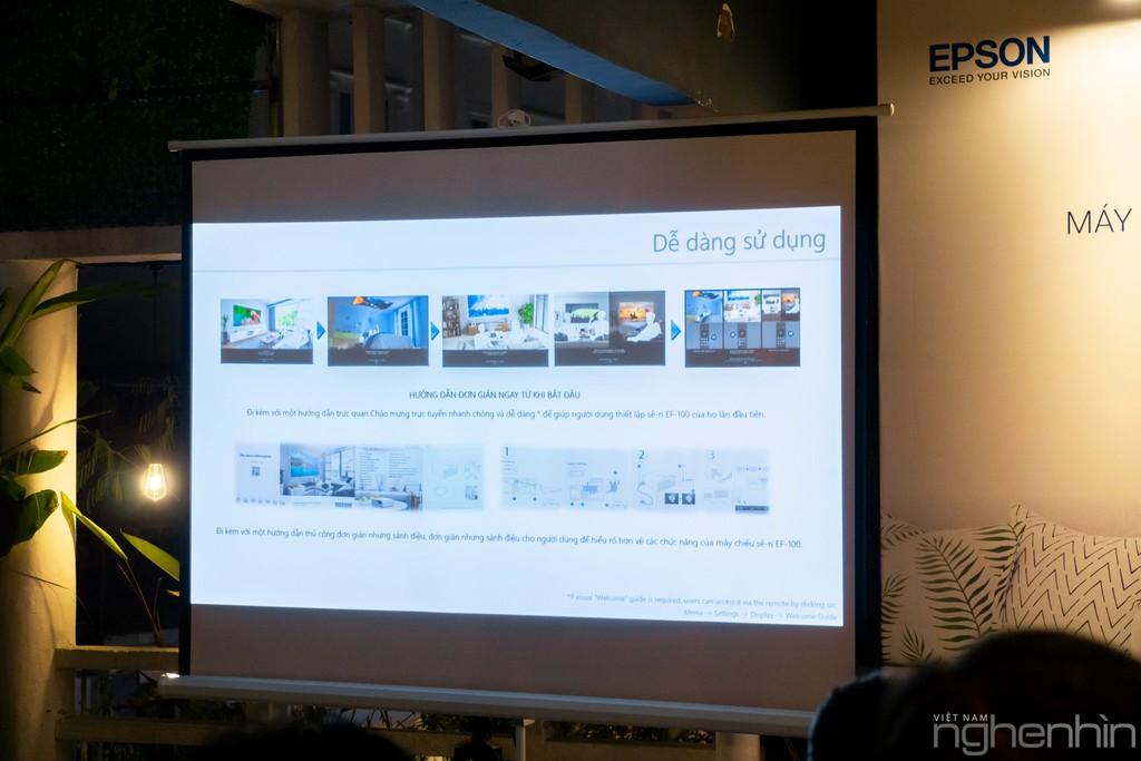 Máy chiếu laser 3LCD EPSON EF-100 nhỏ nhất thế giới ra mắt thị trường Việt giá từ 25 triệu ảnh 8