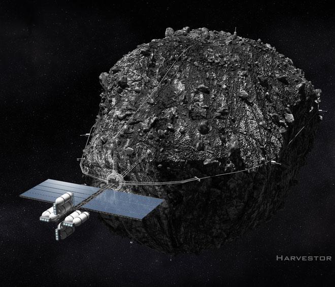 Concept thiết bị lấy thiên thạch về để khai thác khoáng sản.