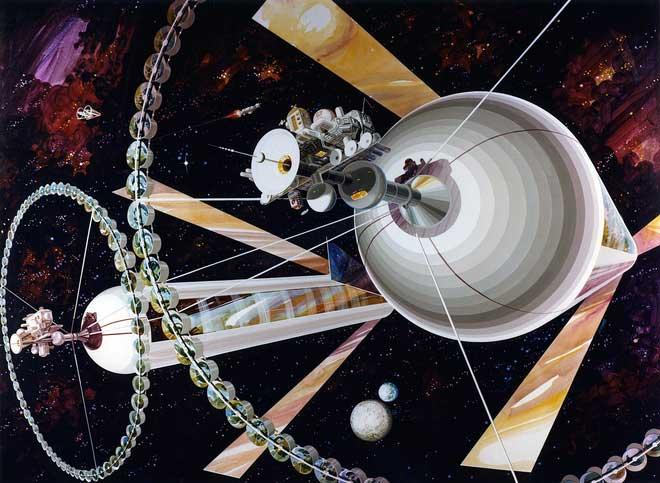 Ống hình trụ ONeill sẽ bao gồm hai ống hình trụ quay ngược chiều nhanh