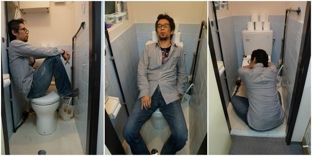 Ngủ trong nhà vệ sinh không phải là chuyện hiếm.
