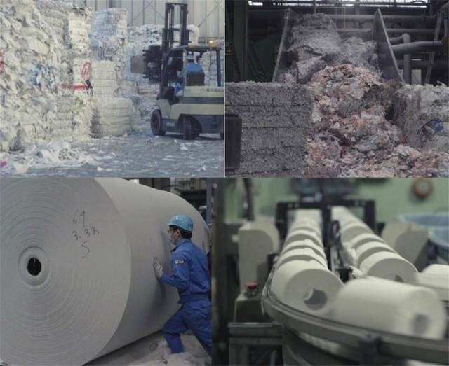 Sản xuất giấy thải từ giấy vệ sinh Nhật Bản