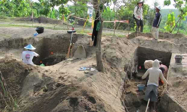 Cận cảnh công trình khảo cổ tại đảo Java