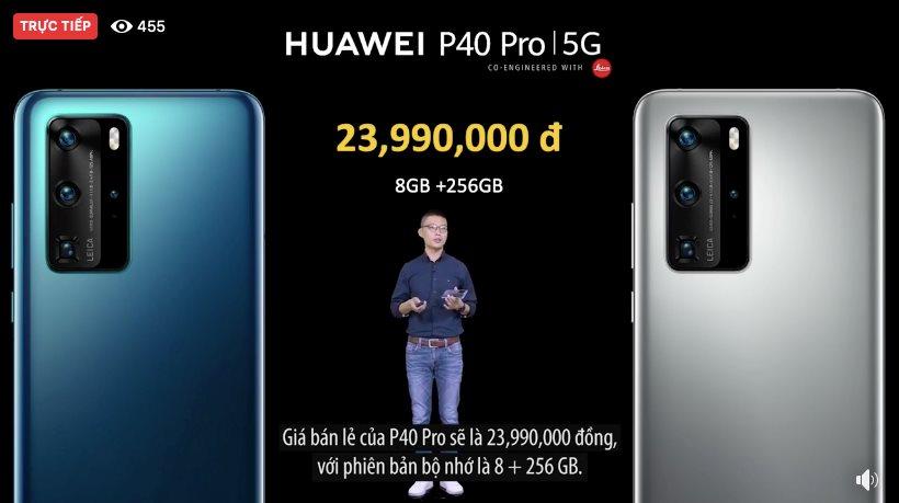 Huawei giới thiệu P40, P40 Pro tại Việt Nam, giá từ 17,99 triệu đồng