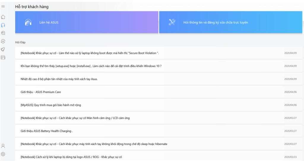 MyASUS App: Ứng dụng hỗ trợ riêng cho người dùng laptop ASUS ảnh 2