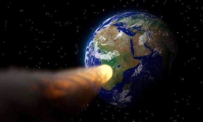 Mô phỏng thiên thạch 2010 NY65 bay qua gần Trái đất.
