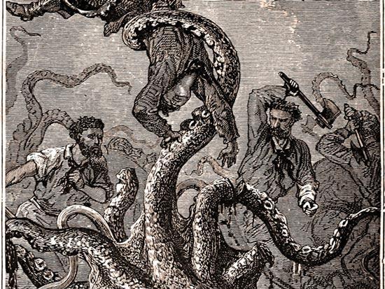 Từ xa xưa, truyền thuyết về loài vật có hình dáng giống mực nhưng kích thước rất lớn đã xuất hiện trong nhiều nền văn hóa
