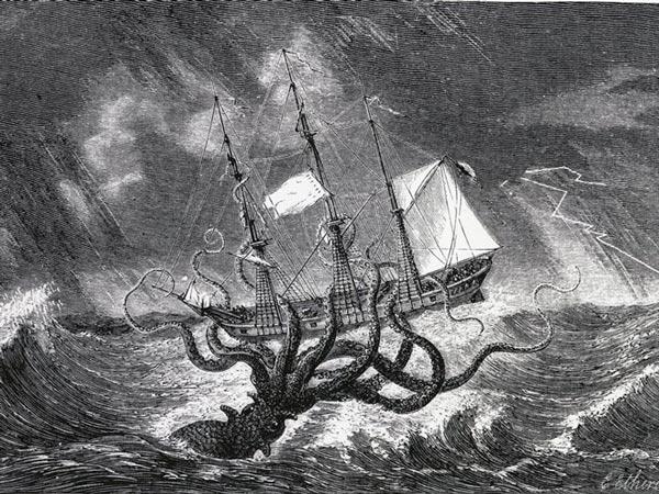 Những câu chuyện về loài mực khổng lồ với khả năng kéo cả những con tàu lớn hay nuốt chửng thủy thủ được đồn đại