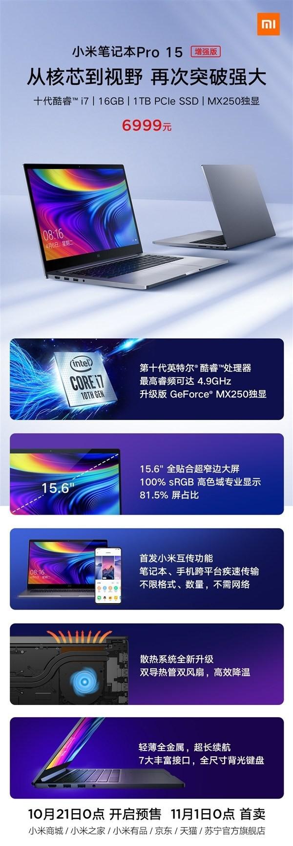 Xiaomi ra mắt Mi Notebook Pro 15.6 Enhanced Edition  nâng cấp chipset, RAM và màn hình ảnh 2