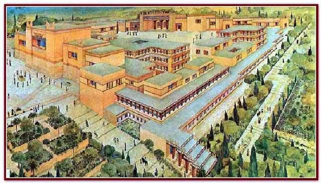 Hình ảnh phác họa về nền văn minh Minos.