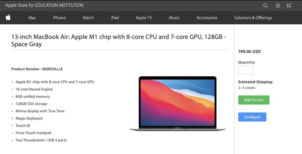 MacBook Air có phiên bản rẻ nhất chỉ 799 USD nhưng tiếc là không mua được ảnh 2