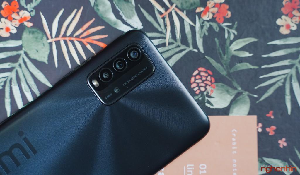 Trên tay Redmi 9T giá 4 triệu đồng thiết kế đẹp pin 6.000mAh, camera 48MP ảnh 3