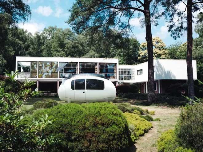Ngôi nhà nhỏ hình trứng này có chiều dài 4,5 mét, rộng 2,1 mét.
