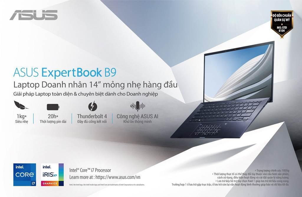 Laptop doanh nhân ASUS ExpertBook B9  lên kệ tại Việt Nam giá từ 29 triệu  ảnh 1