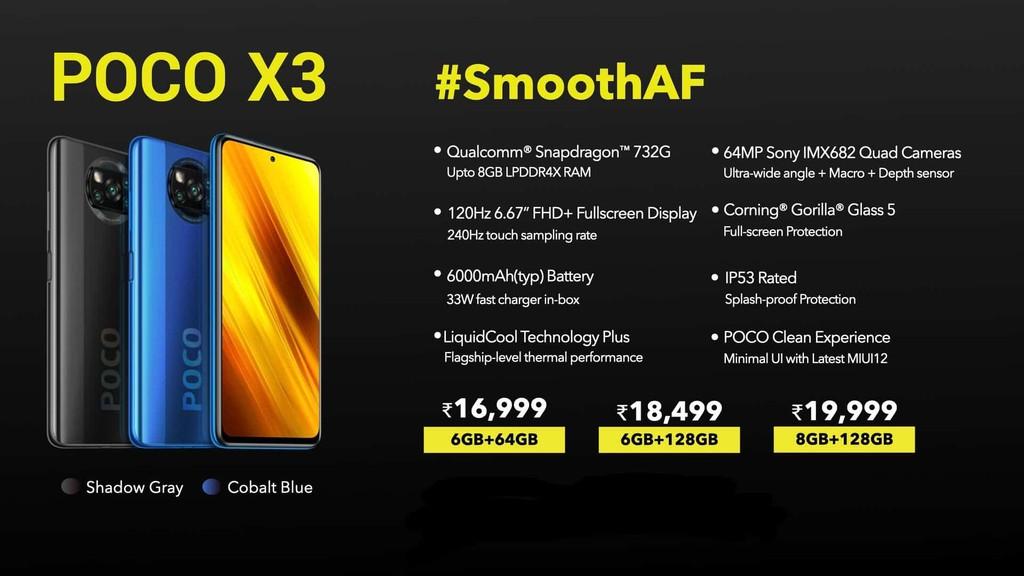 POCO X3 thêm lựa chọn: Bỏ NFC, nâng pin 6.000mAh, giá từ 231 USD ảnh 2