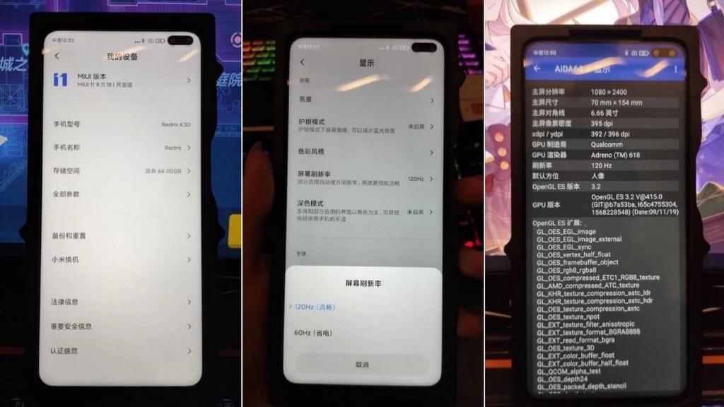Ảnh thực tế xác nhận Redmi K30 có màn hình 120Hz ảnh 2