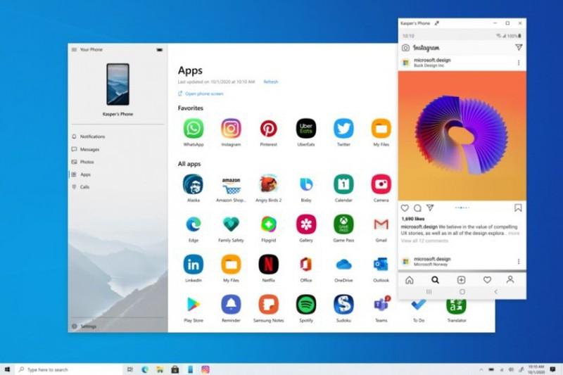 Windows 10 da mo cua so rieng de chay smartphone Android