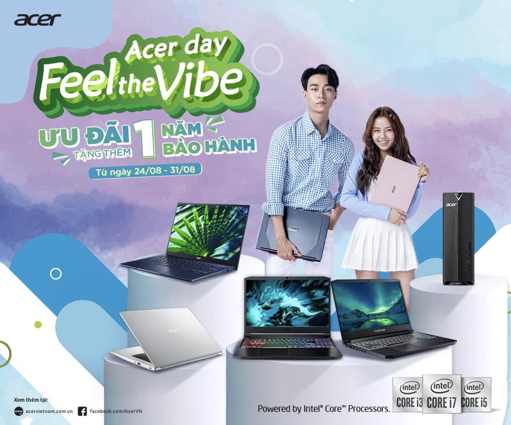 """Acer ưu đãi """"khủng"""" nhân dịp Acer Day, ưu đãi thêm 1 năm bảo hành cho người dùng ảnh 1"""
