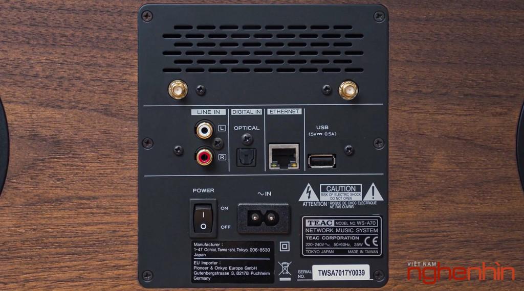 TEAC WS-A70 - Loa di động trang bị driver đồng trục, mộc từ thiết kế đến chất âm. ảnh 9