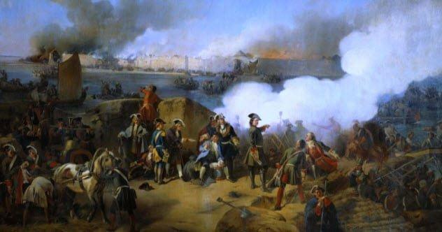 Mùa đông nước Nga đã khiến đội quân Thụy Điển trở nên kiệt quệ.