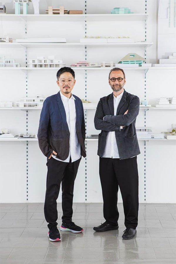 Kiến trúc sư Kenichi Teramoto và Wael Al Awar.