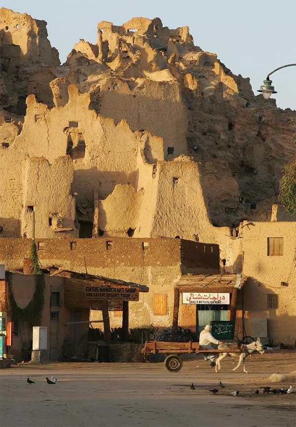 Pháo đài cổ Shali tại Siwa, Ai Cập. Siwa có các tòa nhà xây bằng vật liệu chứa muối.
