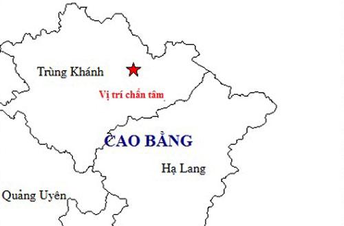 Vụ động đất mạnh 5,4 độ đã xảy ra ở huyện Trùng Khánh, Cao Bằng sáng 25/11.