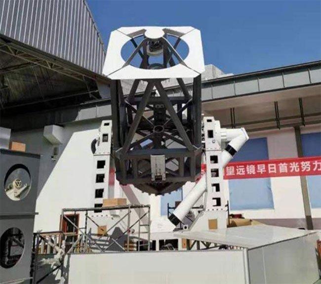 Kính viễn vọng mặt trời lớn nhất Trung Quốc đặt tại Thành Đô, Tứ Xuyên.