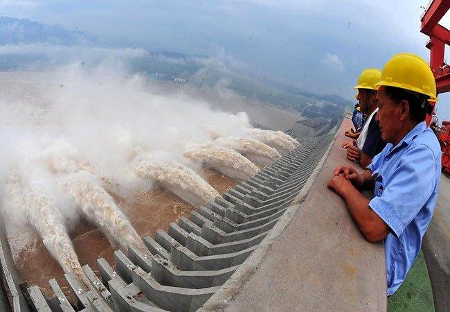 Sau trận bão lớn hồi đầu tuần, mỗi giây có tới 70.000m khối nước sông Dương Tử đổ dồn về đập Tam Hiệp.