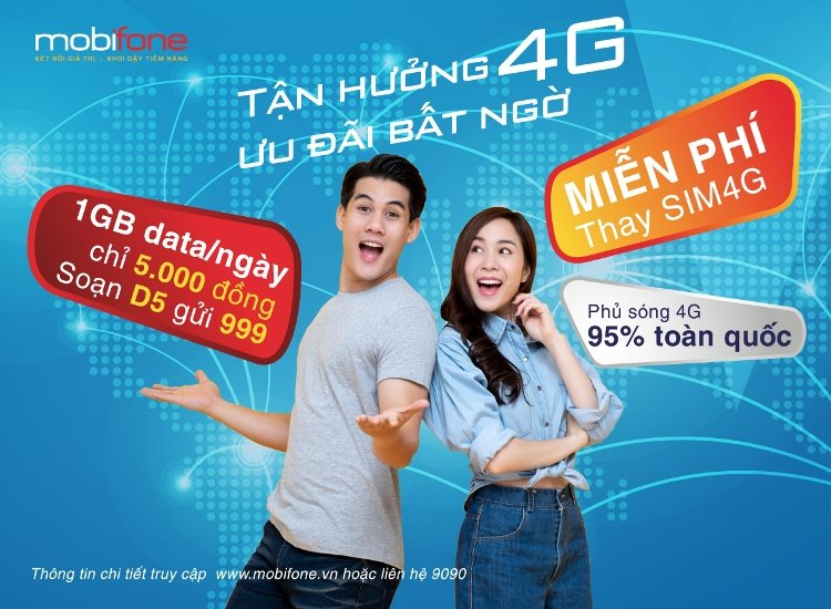 Tận hưởng 4G, ưu đãi bất ngờ với MobiFone