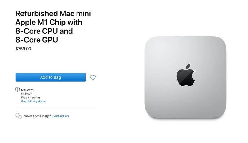 Sau MacBook M1, Apple bắt đầu bán máy Mac Mini M1 refurbished ảnh 1