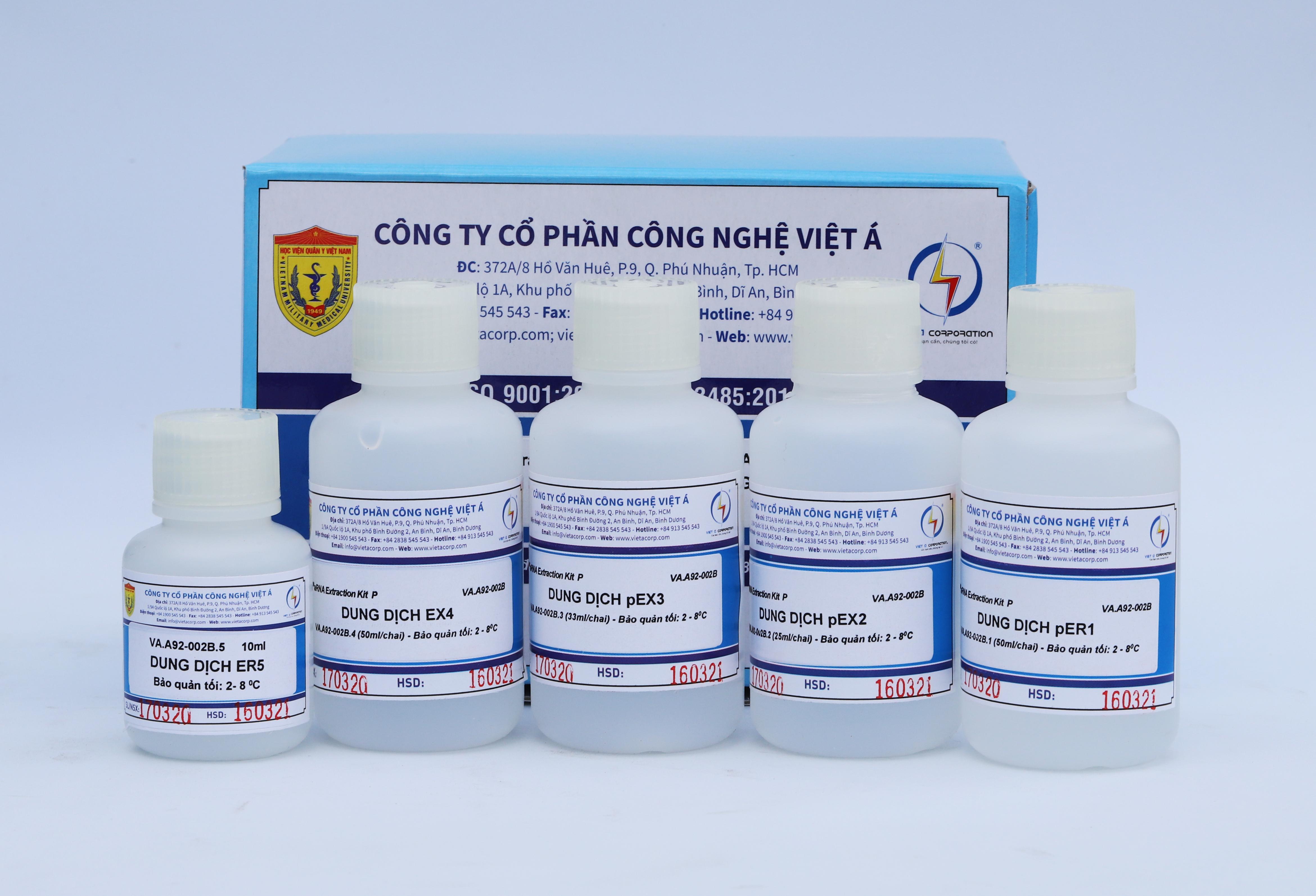 Bộ sinh phẩm xét nghiệm SARS-CoV-2 do Việt Á sản xuất.