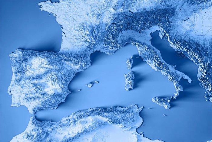 Khu phức hợp núi lửa được phát hiện nằm ngay dưới biển Tyrrhenian ngoài khơi bờ biển Ý.