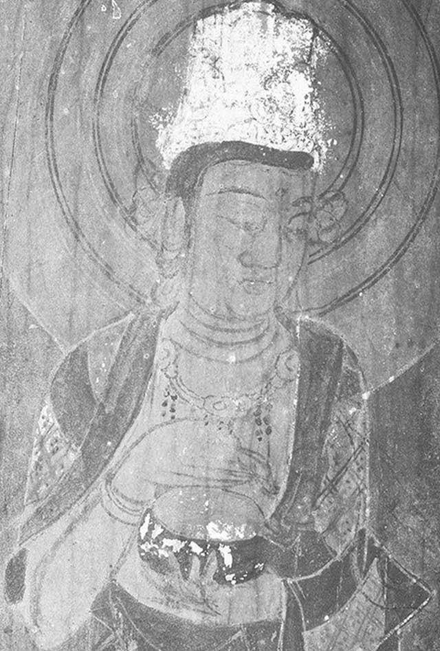 Hình ảnh một trong các vị Phật trên tranh.