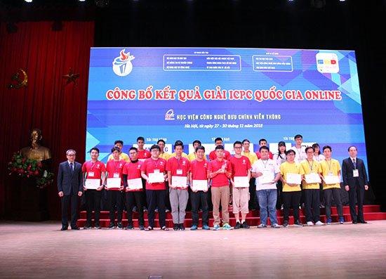 Trao 13 giải thưởng vòng quốc gia online kỳ thi lập trình ICPC 2018   Công bố chính thức các giải thưởng vòng thi quốc gia kỳ thi lập trình ICPC 2018