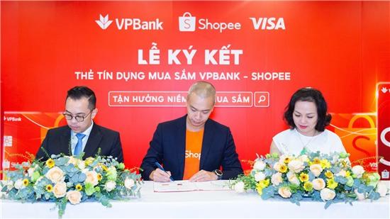 Shopee hợp tác với VPBank và Visa ra mắt Thẻ tín dụng VPBank Shopee